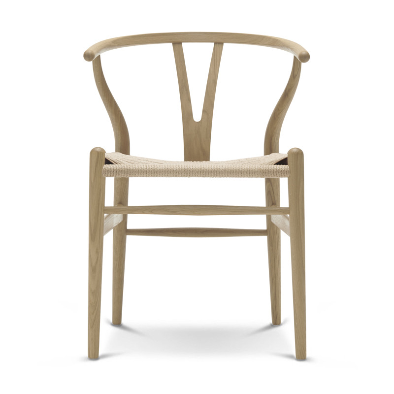 Wishbone Chair soaped oak with natural papercord seat