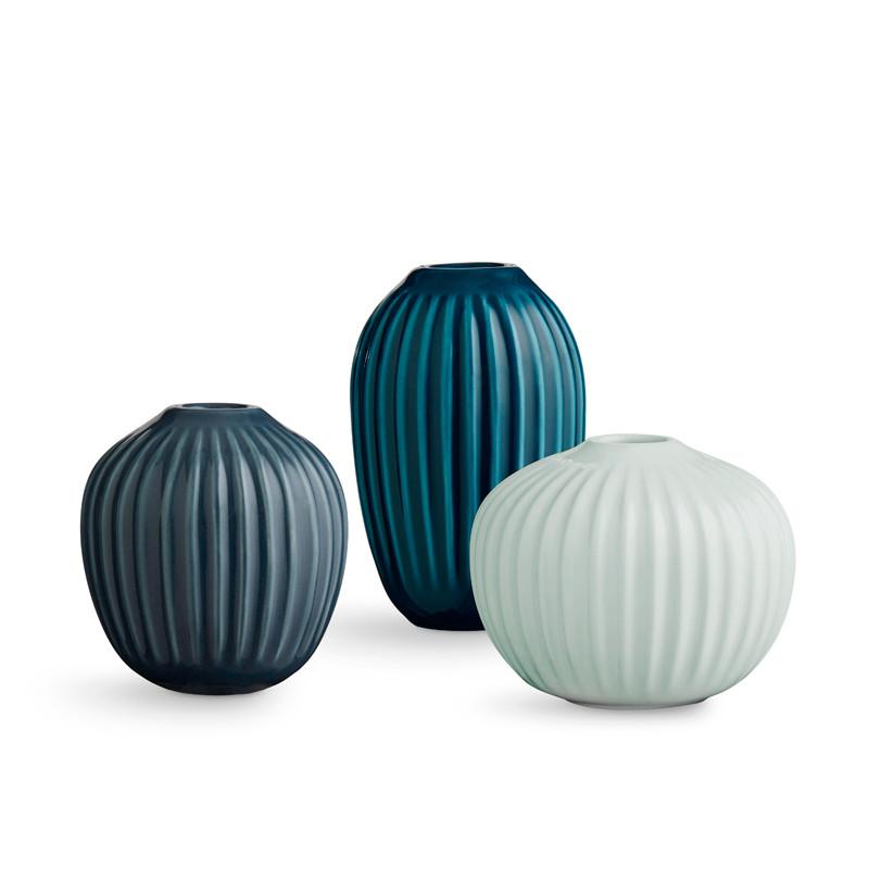 Hammershøi vase 3-pack green