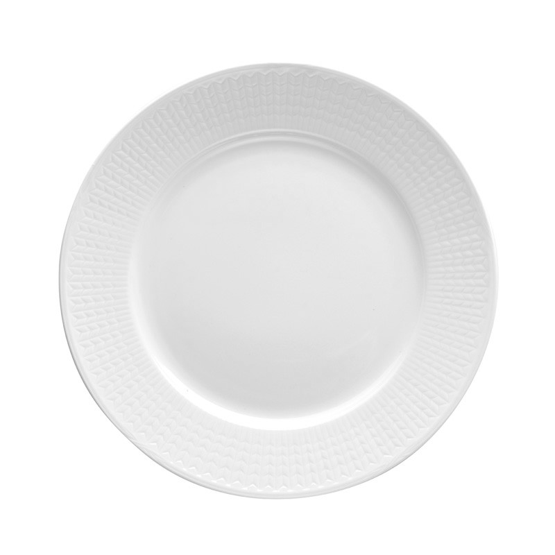 Swedish Grace Plate 27 cm Snow 6-pack