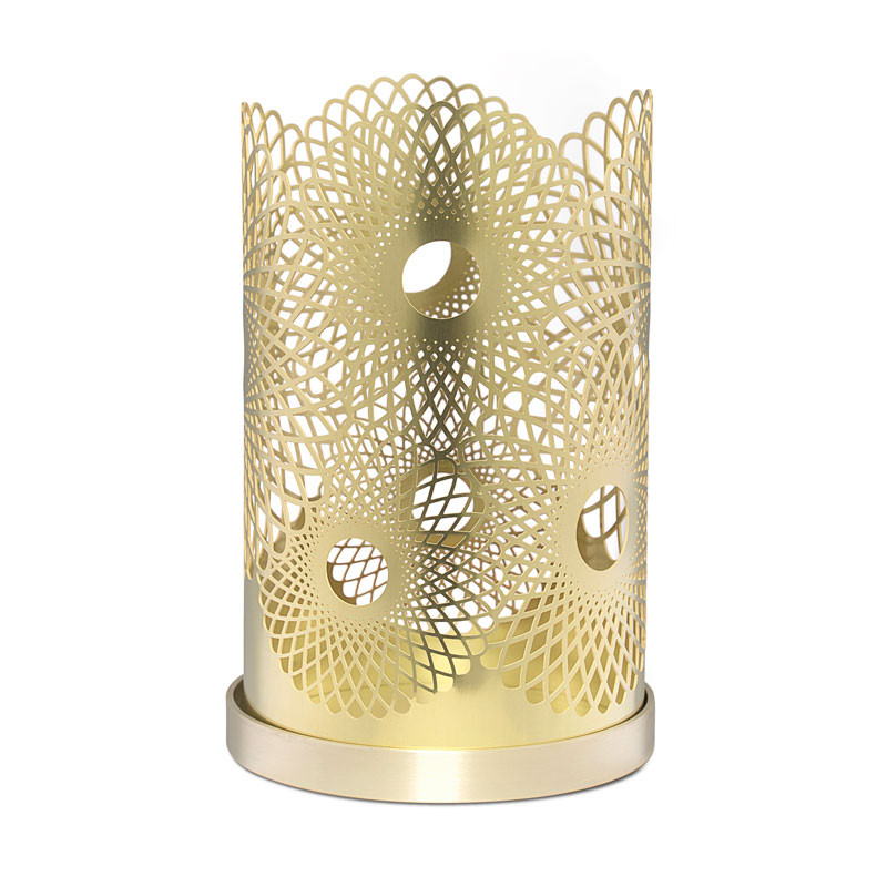 Feather Candleholder 14cm Brass