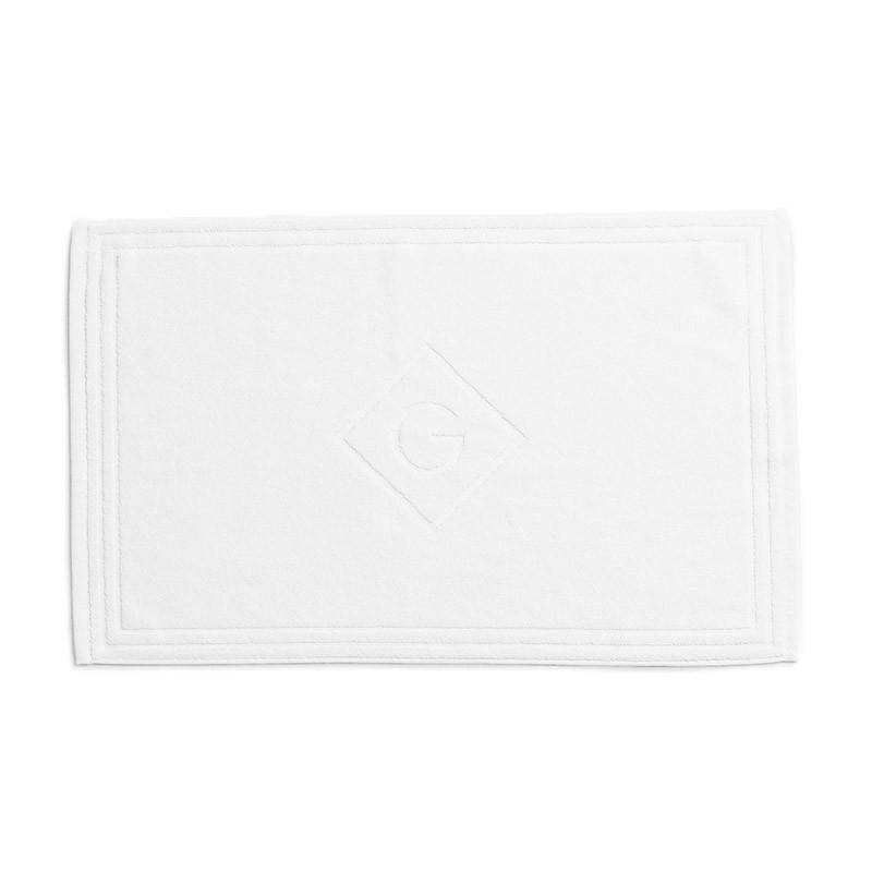 Organic Cotton G Shower Mat white