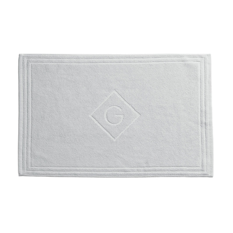 Organic Cotton G Shower Mat Light Grey