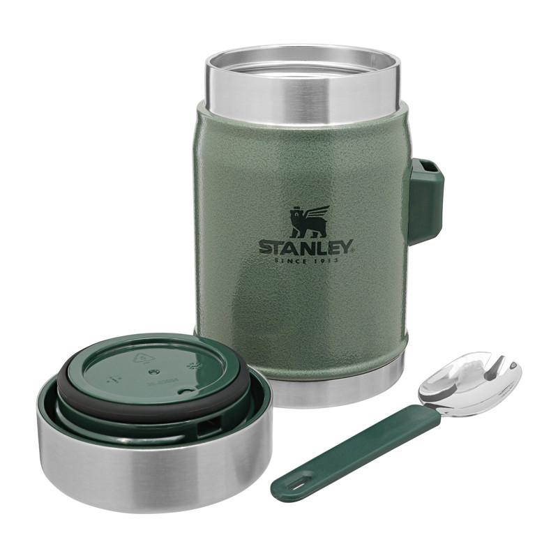 Food Jar plus Spork, Green