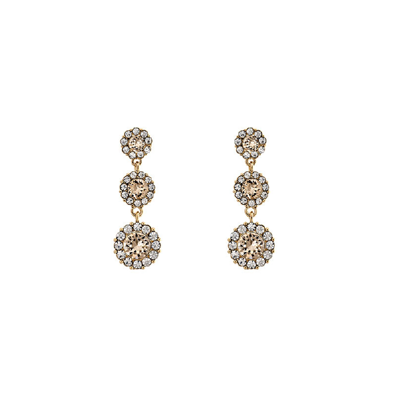 Petite Sienna Earrings Light Silk