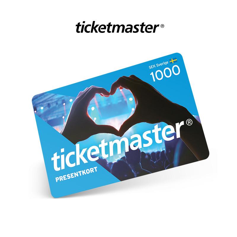 Ticketmaster 1000 sek